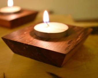 Candle Holder Tea Light Handmade Tasmanian Myrtle Gift