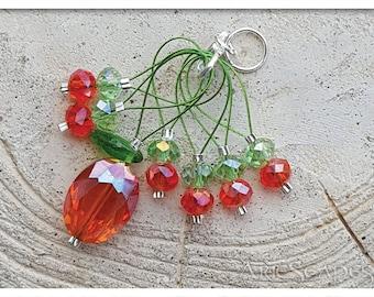 Crystal Pumpkin Stitch Markers