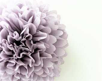 Paper pom pom in Dusty purple / vintage party decor / dusty violet / rustic party /Vintage Wedding / tissue paper PomPom /wedding decora