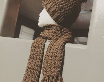 Handmade hat and scarf set