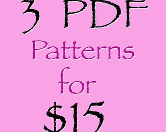 ANY 3 of my Sewing patterns for 15 Dollars Girls boys pdf tutorials ebook dress pants skirts tops