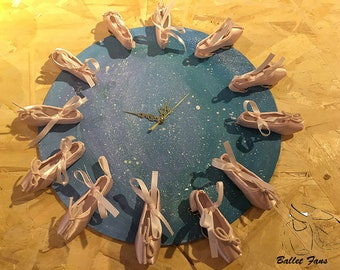 Ballet Mini Pointe Shoe Clock