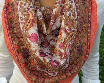 Flowers Cotton Scarf