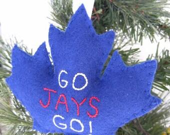 Toronto Blue Jays Maple Leaf Ornament