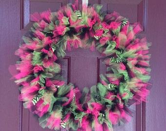 Medium sized Tulle wreath