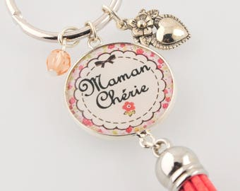 """Dear MOM"" keychain"