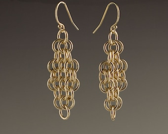 14k Gold Filled Mesh Earrings - size 5