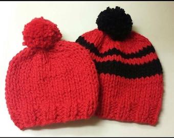 Kids Striped Winter Hat - choose colors!