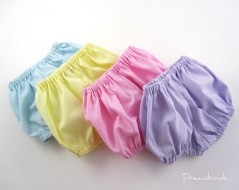 Infant & Toddler Diaper Covers - Baby Bloomers in Pastel Colors - Pick Your Favorite Pastel Color - Size Nb, 3m, 6m, 9m, 12m, 18m, 24m or 3T