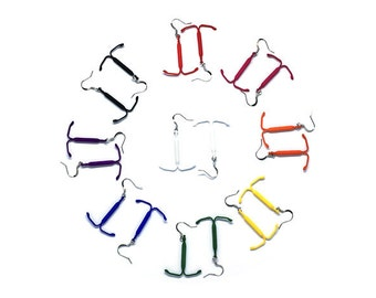 IUD Earrings - Reproductive Rights Jewelry in laser sintered nylon plastic
