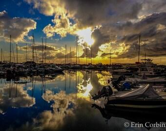 Port of Patras Print, Travel Photography Prints, Greece Photography Prints, Greece, Harbour, Nature Photography, Sky Print, Clouds, Marina