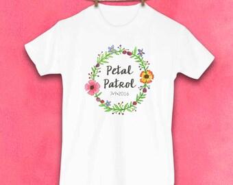 Petal Patrol, Flower Girl, Flower girl gift, Cute Toddler Tshirt, Unique Kids Clothes, Kids Clothes, Wedding, Petal Patrol shirt, Flowers