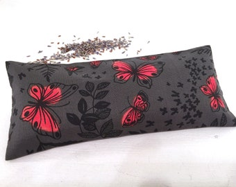 Organic Lavender Eye Pillow, Butterflies, spa gifts, meditation, yogi gift, yoga accessories, aromatherapy, relaxation gifts, heat pack