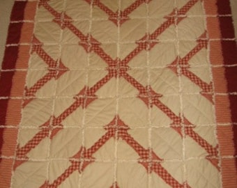 Chained Links Rag Quilt Pattern Digital Download by Sew Practical, Mom and Pop Craft