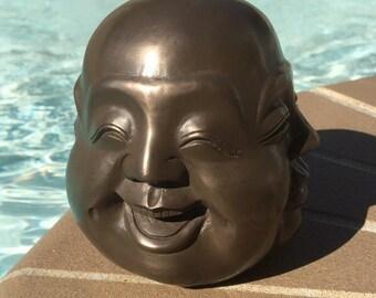 Four Faced Large Buddha Zen Meditation Buddha Statue - Yoga Buddha- Large Bronzed Chinese 4 Face Buddha Statue Home Decor- FREE SHIPPING