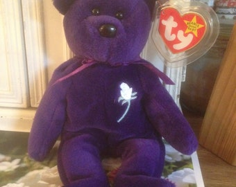 Princess Diana Beanie Baby. 1997. 1st Edition. Ty. Handmade in China. No Space.