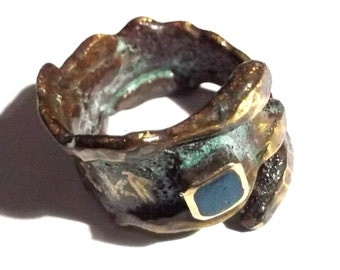 Aged brass ring
