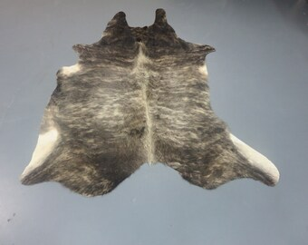 Exotic Gray Black  What You See Is What You Get Cowhide  72''X 62'' 7840F1