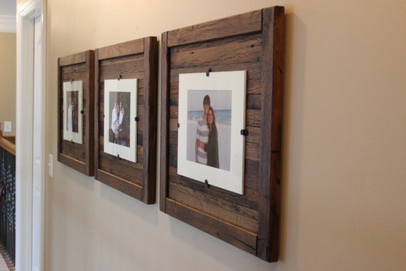 Charming Picture Frames, Reclaimed Wood, Wedding Pictures,Set Of 2, 8x10 Picture  Frame With Mat, 11 X 14 Picture Frame Without Mat, Free Shipping! Design Inspirations