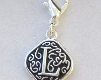 Vintage  Letter L  Dangle  Lobster Claw for Necklace - Bracelets - Key Chains