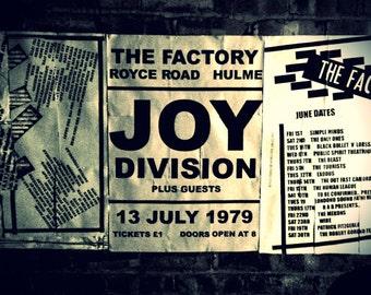 Joy Division Poster, Original Artwork Print by Jordan Bolton A3