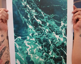 silkscreen on paper  / 4 colours / poster / horseshoe bay vancouver  / art work hand made screen printing