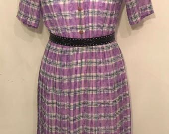 Vintage checked lilac  dress