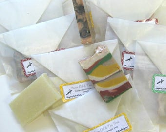 Soap Samples Handmade Soap Samples/shower favors/guest soap/individual samples/6 for 5