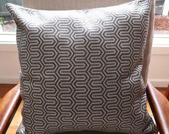 Grey geometric cushion cover, Throw cushion cover, Scatter cushion cover, Throw pillow cover, Decorative pillow cover