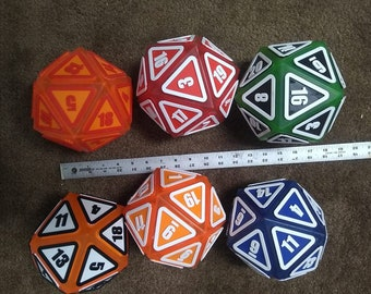 "Giant D20 Twenty Sider 6.5"" Extremely rugged"