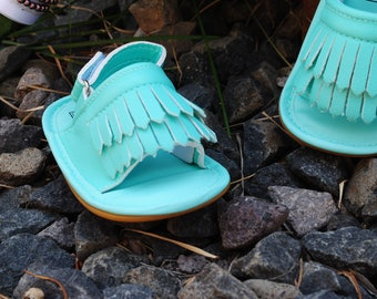 Gold, Teal, Pink, or Brown Baby Sandals, baby girl sandals, baby leather sandals, leather sandals
