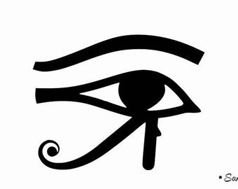 eye of horus Egyptian symbol applique flex fusible