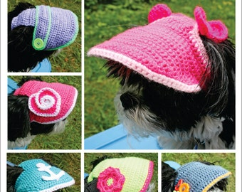 PATTERN for a Crocheted Small Dogs Visor/Hat - PDF File.
