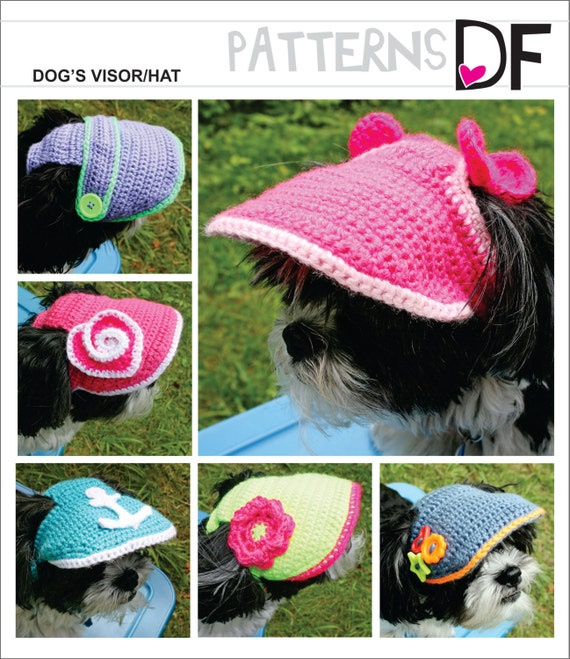 Pattern For A Crocheted Small Dogs Visorhat Pdf File
