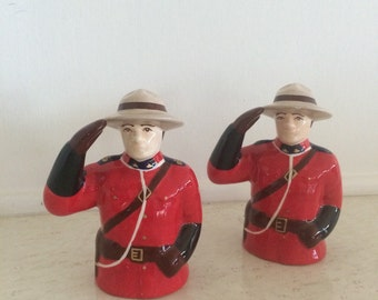 Vintage RCMP Mountie Salt and Pepper Shakers