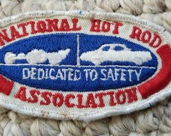 Vintage National Hot Rod Association patch