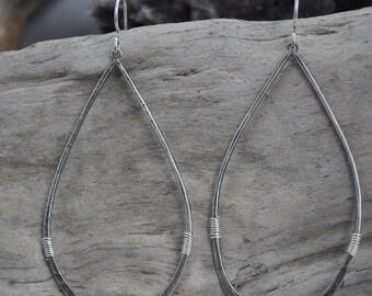 Oxidized Teardrop Earrings