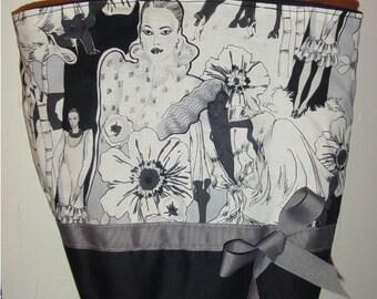 Gray & Black Runway Shopping Vogue Diva BAG Purse Tote BAG or Diaperbag