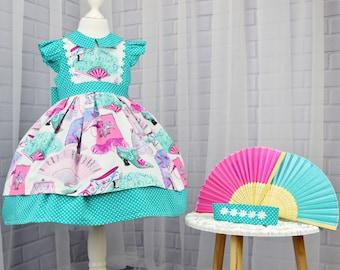 Girls Dress, Toddler Twirl Dress, Girls Twirl Dress, Girls Birthday Outfit, Twirl dress, Girls Clothing, Unique Girls Clothes, Party Dress