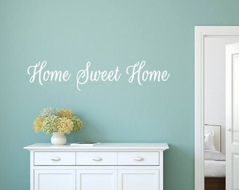 Home Sweet Home, Vinyl Wall Decal, Family, House, Entryway, Living Room, Welcome, Gift, Home Decor, Vinyl Lettering, Wall decal