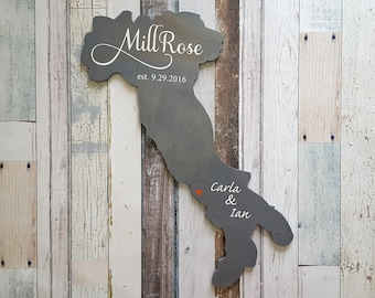 Wedding Guest Book Alternative. Country Guest Book. Wood Guest Book. Custom State Sign. Personalized State Sign. Wood State Cutout, Italy