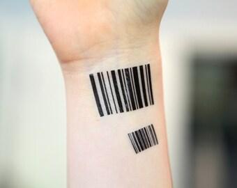 Barcode Medium - Spirit Ink Temporary Tattoo