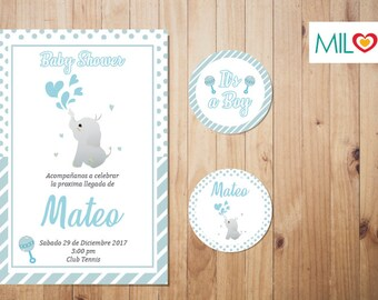 Invitation Baby Shower/Downloable/invitation baby shower/DESCARGABL/blue/child