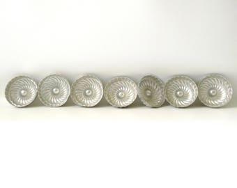 Vintage Set of 7 Miniature Jello Molds