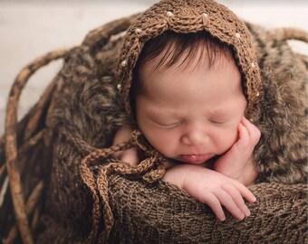 Made to Order. Baby bonnet. Handmade . Newborn Photo Prop.