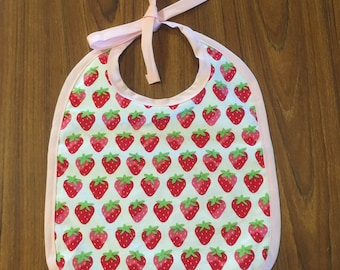 Strawberry Blessings Baby Bib