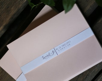 "BLUSH A7  Envelopes  (pink/peach) ~ Invitation Envelope ~ A7 = 5 1/4"" x 7 1/4"" ~ qty 25"