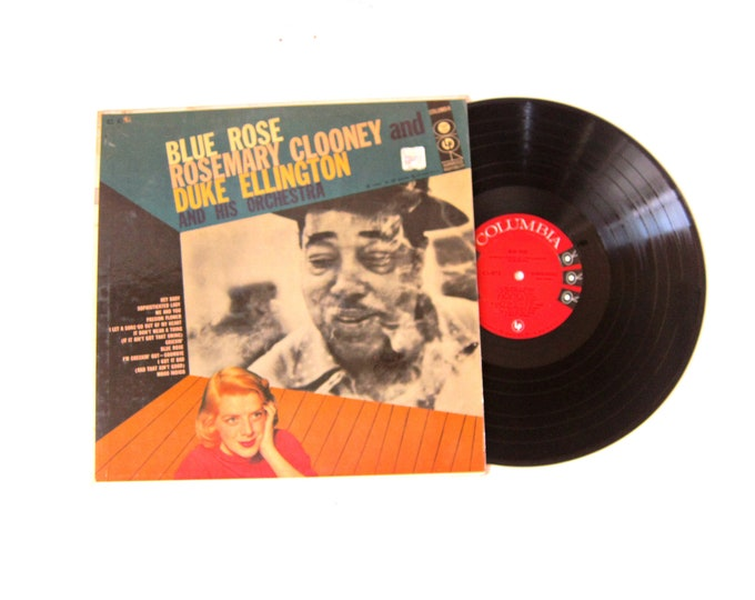Blue Rose Rosemary Clooney Duke Ellington and His Orchestra Vinyl Record Album 12 Inch LP Vintage Music Columbia Record Album