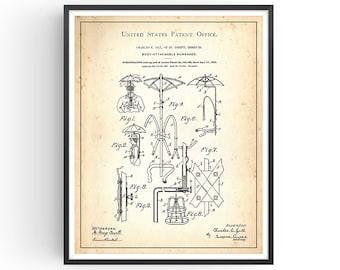 BODY-ATTACHMENT SHADE - 1903 - Patent Print - Sun shade Print - Victorian Print - Victorian Sun Shade - Funny Sun Print - Unframed