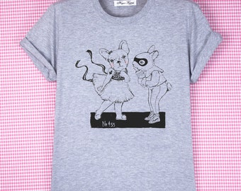 "T-SHIRT ""Kamasutra""/t-shirt gris/ illustration marrante/ Lapin/ super-héros/ Vans/ bouledogue/ séduction/ hipster/ Ballerine"